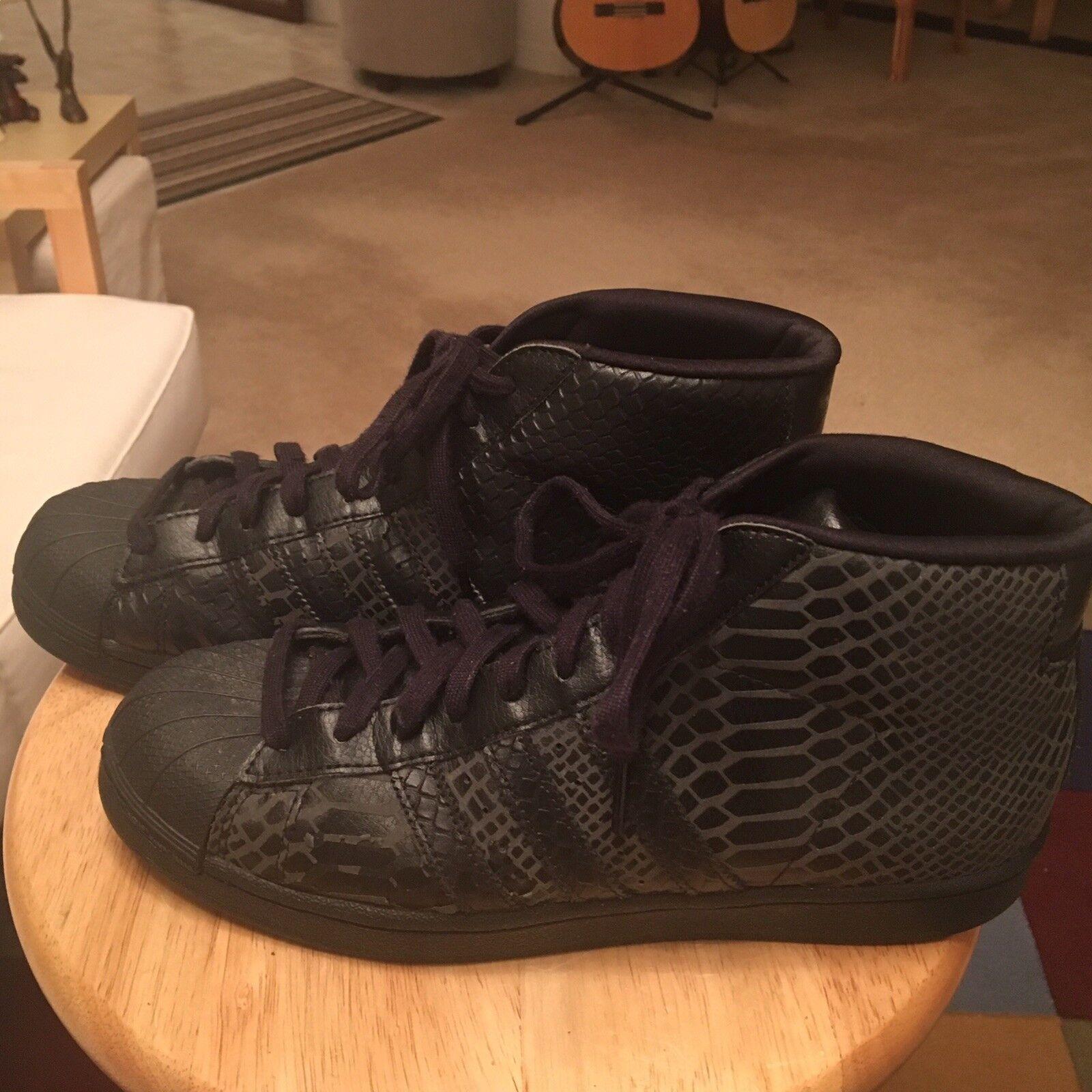 Adidas Originals S85960 Black Men's US8.5 Snakeskin Print Hi Top Sneakers shoes