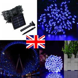 400 Led Solar Powered String Fairy Lights Garden Christmas Outdoor Waterproof Uk Ebay