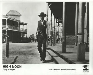 High-Noon-Gary-Cooper-Promo-Press-Release-8X10-B-W-Glossy-Photograph