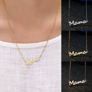 Silver-Gold-Letter-Mama-Pendant-Necklace-Fashion-Jewelry-Gift-Mother-039-s-Day-07AU