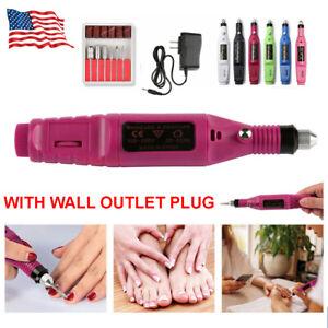 Electric-Nail-File-Art-Drill-File-Acrylic-Manicure-Pedicure-Portable-Machine-Kit