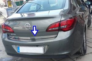 Vauxhall-Opel-Astra-J-2010Up-Cromo-Trasero-Tronco-Porton-Trasero-Tapa-De-Moldeo-Recorte-Acero