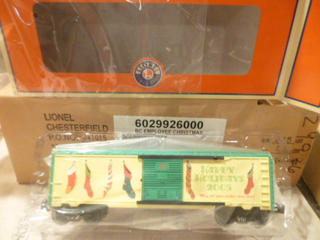 NUOVO Lionel PRODUZIONE LIMITATA 29926 2005 dipendente vagone di NataleMentaW22