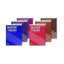MASTER THEORY - Music Theory Workbooks - COMPLETE SIX BOOK SET!!