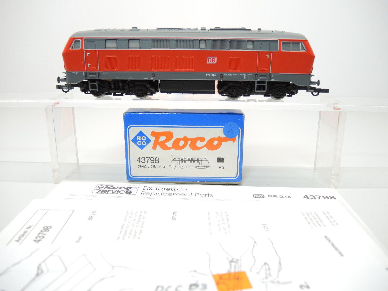 Roco 43798 diesellok br 215 131-4 de la DB digital con esu decodificadores, embalaje original (2)