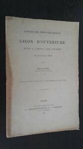 Corso Di Diplomatica Lezione Apertura Maurice Meno Chevalier-Maresq 1900