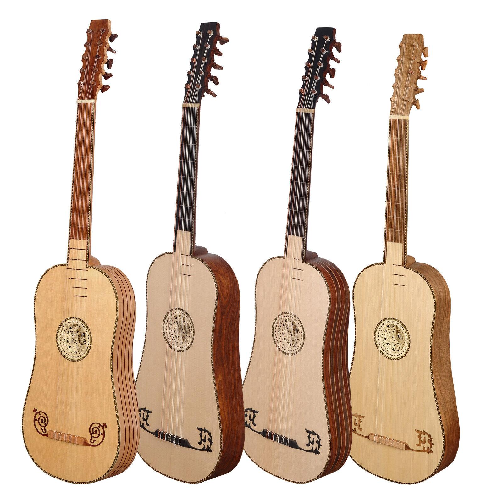 Heartland 5 Course Sellas Baroque Guitar, Barocke Gitarre mit gepolsterter Tasch