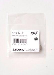 Hakko-Pre-Filter-Alum-Set-of-5-B5016-For-FR-300