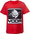 Star Wars Kids Boys Yoda Framed Closeup T-shirt - Red 134/140