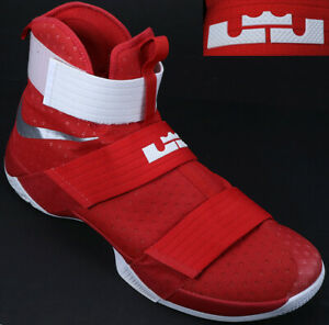 Nike Lebron James Soldier 10 TB Promo Basketball Shoes Mens Size 17 Gym Red
