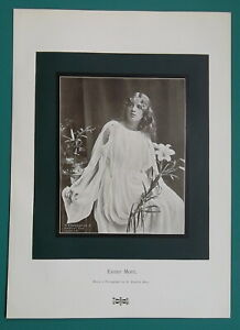 DOWN-OF-EASTER-Flowers-Young-Lady-in-White-1904-Art-Nouveu-Era-Print