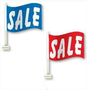 Car Dealer Window Clip On Flags Sale Flags, a dozen (12) Clip-on Flags