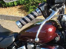 Griffe Alu Yamaha XV 535 750 1100 125 250 Virago Griffgummi Chrom edle Optik NEU