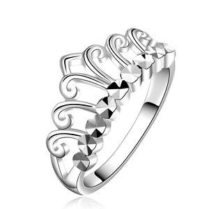 Argento-Corona-Festa-Ballo-donna-sposa-matrimonio-diametro-dell-039-anello-18-mm