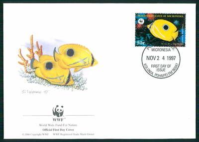 Aufrichtig Micronesia Schmuck-fdc 1997 Wwf Fauna Fische Tropical Fish Pesce Peche Em04