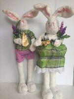 Raz Imports Standing Bunny Couple 20h