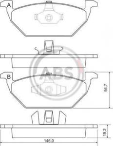 ABS 37008 Bremsbelagsatz Frein À Disque Plaquettes De Freins Plaquettes De Frein