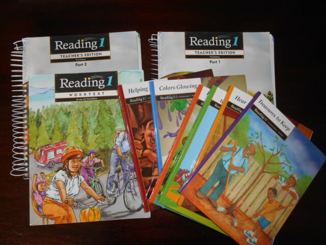 Reading 1 Bob Jones SET homeschooling 1st gr. Teacher/student readers/workbook