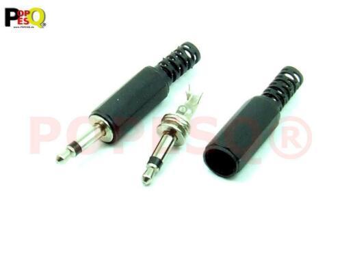 2 Stk x Klinke Mono 3.5mm Stecker Audio Mono Kunststoff #A3276