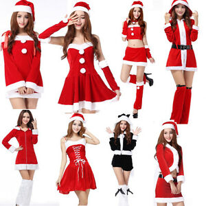 Sexy Women s Santa Claus Christmas Costume Cosplay Party Outfit ... 5ea41ab6605d