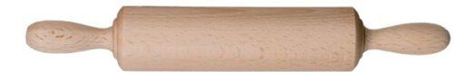 Teigrolle ohne Achse für Kinder Nudelholz Holz 25 cm