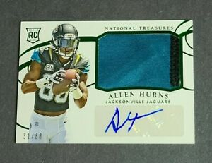 Allen Hurns Rookie Patch Auto Jaguars Dolphins 2014 National Treasures 31/88 RPA