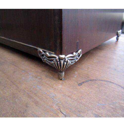 4 un Estuche de madera joyas en el pecho caja de regalo decorativa Pies Protector Protector de esquina de la pierna