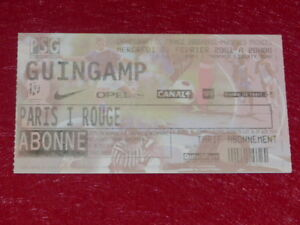Collection-Sport-Football-Ticket-Psg-Guingamp-7-February-2001-Champ-france