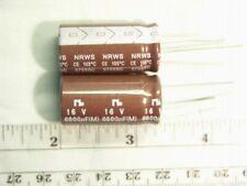 4 pieces 6,800uF 16V 20/% Radial Electrolytic Capacitors NIC NRWS682M16V16X31