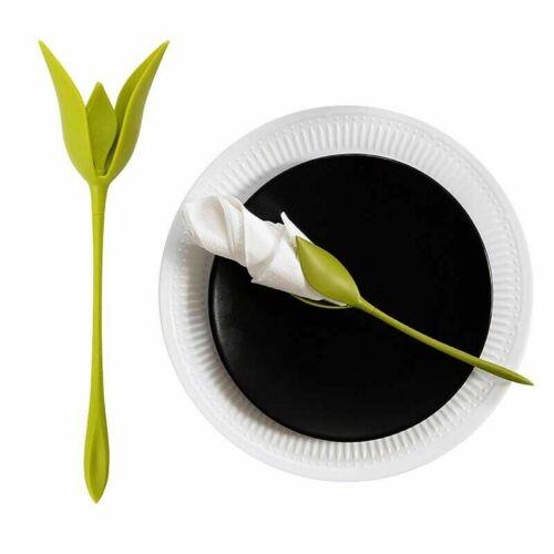1//8//12//20 PCS Bloom Napkin Holders Table Plastic Twist Flower Serviette Holder