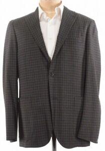 Boglioli-NWT-K-Jacket-Sport-Coat-Size-40R-In-Brown-W-Neon-Green-Plaid-1-245