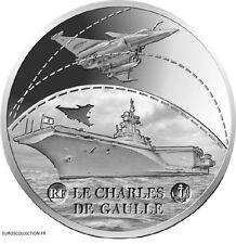 FRANCE FRANCIA 10 Euro Argent BE ARGENT VESSEL CHARLES DE GAULLE 2016 COMPLET !