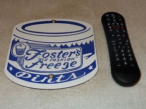 VINTAGE-FOSTER-039-S-FREEZE-ICE-CREAM-PINT-7-5-034-PORCELAIN-METAL-GAS-CALIFORNIA-SIGN