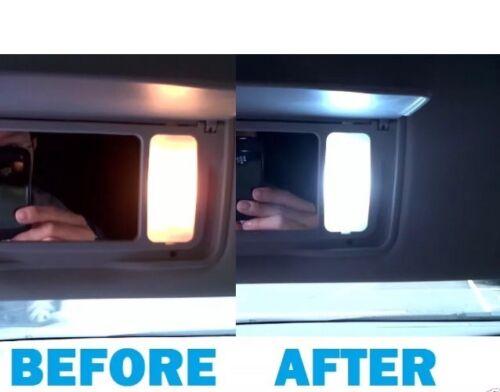SUN VISOR VANITY MIRRORS LIGHTING UPGRADE BMW F10 5 SERIES 2011