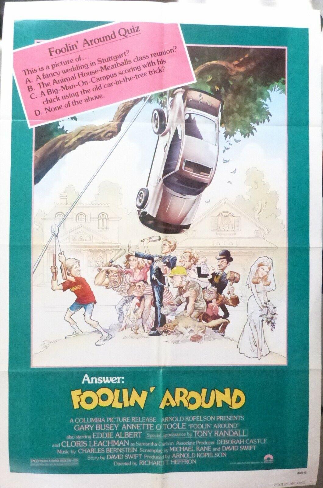 Foolin´Around Movie Poster,1979,Folded,Original,1 Sheet,Gary Busey