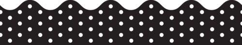 cdp-108220 cdp108220 Carson-Dellosa White Dots Cont Roll Scalloped Border