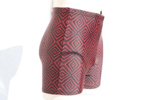 215054-6 MCT Marken Badehose Badeshorts Bermuda Elastisch Neu Schwarz Rot in L