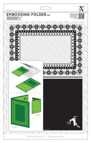 1 méth gabarit DIN a4 Embossing Folder Extra Grand XXL Avec 2 motifs Xcut cela