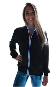EL WIRE HOODIE RECHARGEABLE CHRISTMAS CLUB RAVE PARTY HOLIDAY STYLISH QUALITY