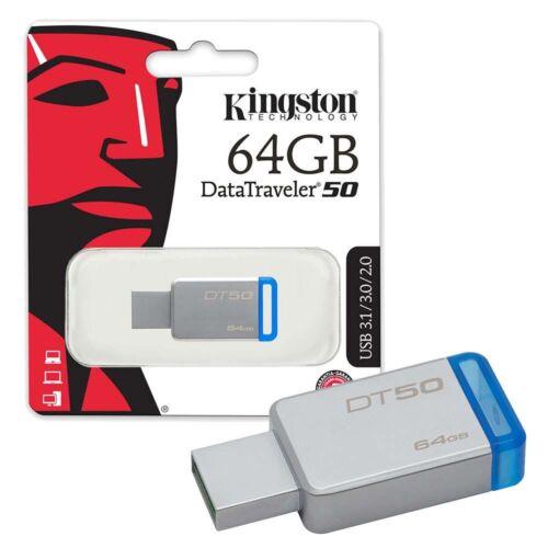 Kingston DataTraveler DT50 8GB//16GB//32GB//64GB//128GB USB 3.0 3.1  Memory Stick-UK