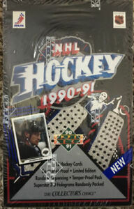 1990-91-Upper-Deck-NHL-Hockey-Factory-Sealed-Box-of-36-Packs-Great-RC-039-s