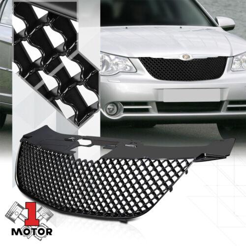 Matte Black 3D Wave Mesh Front Bumper Grille//Grill for 07-10 Chrysler Sebring