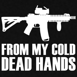 Cold Dead Hands III/% 3/% 1776 M-4 Rifle Decal 2A Gun Rights 3 Percenter Freedom