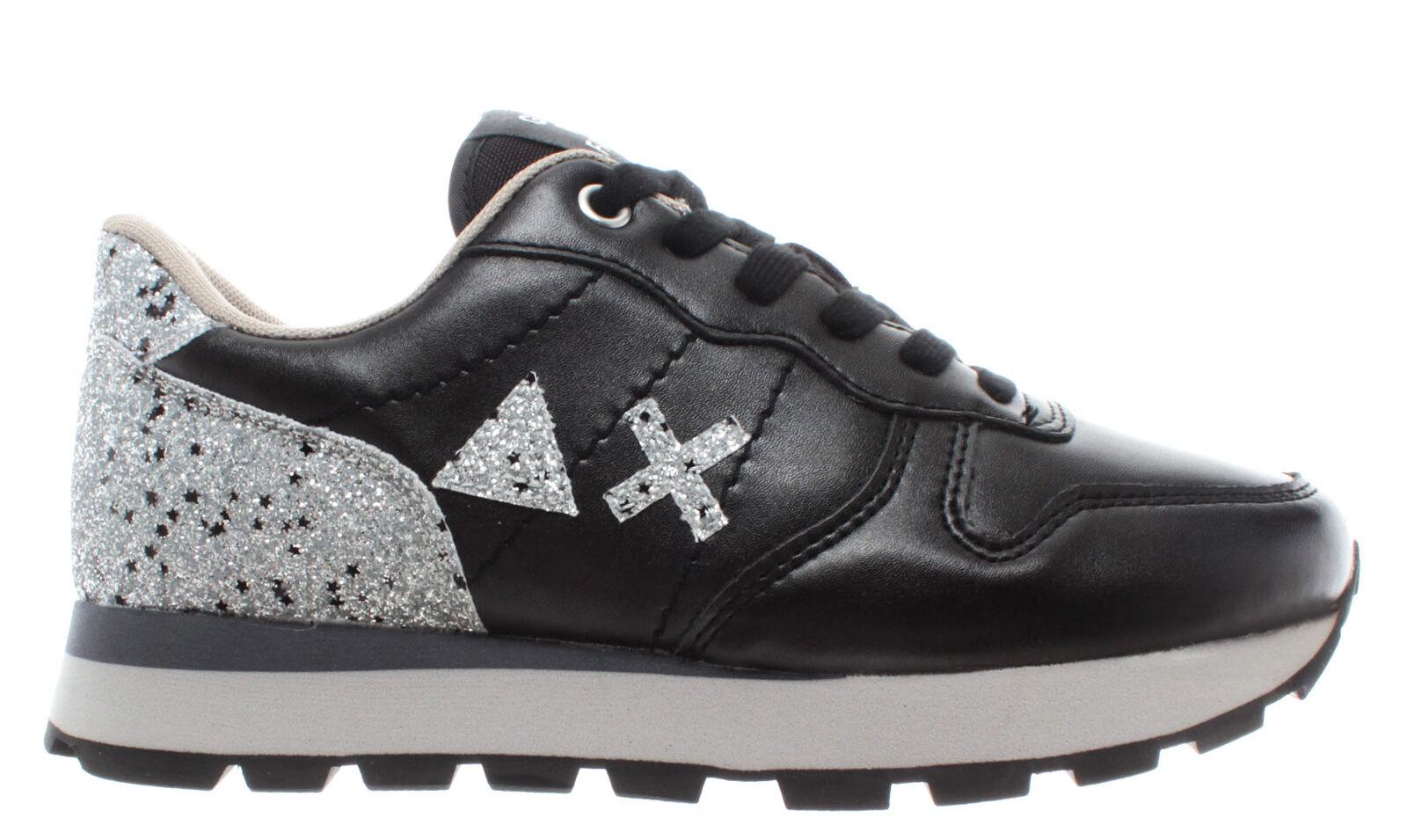 zapatillas mujer sun68 z29205 running Ally glitter negro leather