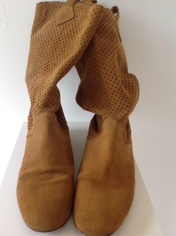 Stiefel. Leder. Italien Manufaktur. Havanna -Farbe. Guter gepflegter Zustand, 38
