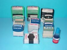 Self Inking Stamps Lot Of 14 Used Some Need Re Inked