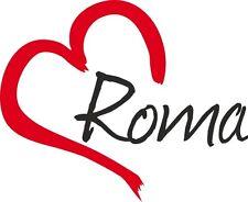 "Auto Aufkleber "" ROMA "" Rom Sticker Stadt Italien ca.11x9cm konturg."