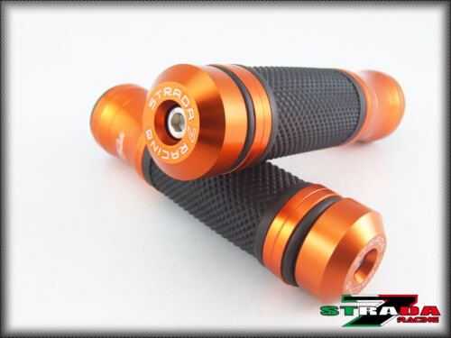 Triumph BONNEVILLE SE T100 SCRAMBLER Strada 7 CNC Orange Grips /& Bar Ends Combo