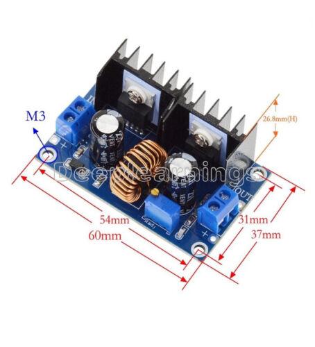 DC-DC 4-38V//36V to 1.25-36V PWM XL4016 8A Step Down Voltmeter Display Module NEW