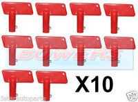10x RED BATTERY CUT OFF KILL ISOLATOR SWITCH SPARE KEYS CAR BOAT RALLY MARINE